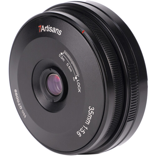 7artisans Photoelectric 35mm f/5.6 Pancake Lens for Leica L (Black)