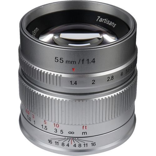 7artisans Photoelectric 55mm f/1.4 Lens for Fujifilm X (Silver)