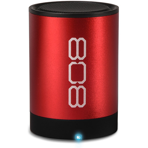 808 Audio Canz2 Portable Wireless Bluetooth Speaker (Red)