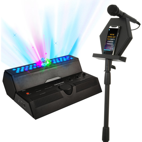 808 Audio Singsation Main Stage 40W Karaoke System with Two Mics (Black)