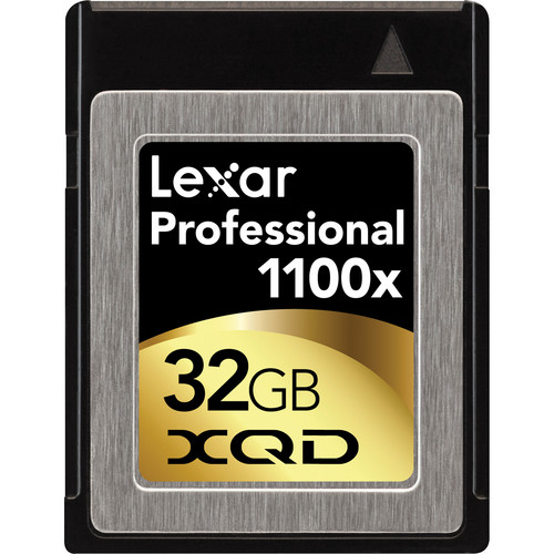 Lexar 32GB XQD Professional 1100x Memory Card