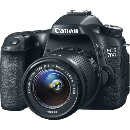 Canon EOS 70D 20MP DSLR Camera w/18-55mm Lens