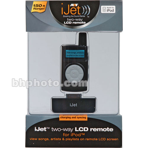 ABT iJet Wireless RF 2-Way Remote with LCD for iPod - Black