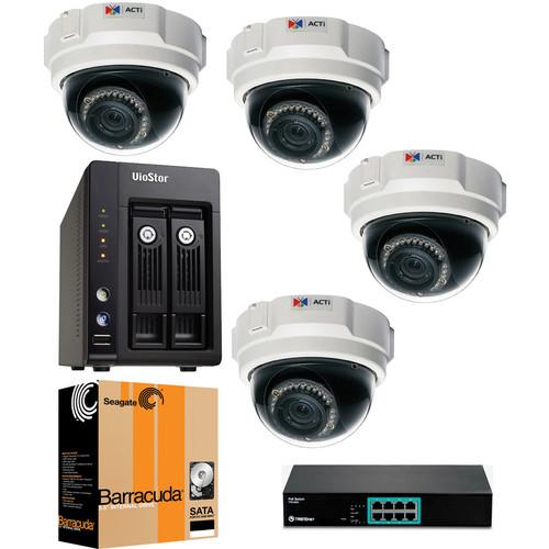 ACTi 4 Camera 1.3 MP Professional Indoor Bundle