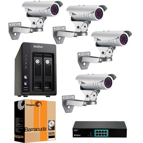 ACTi 4 Camera 1.3 MP Professional Outdoor Bundle
