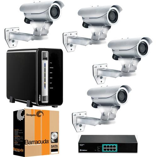 ACTi 4 Camera 1.3 MP Value Outdoor Bundle