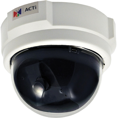 ACTi E51 1MP Indoor Dome with Basic WDR, Fixed Lens