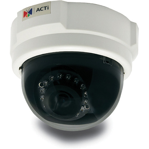 ACTi E52 1 MP Indoor Day & Night Dome Camera with IR Illuminator