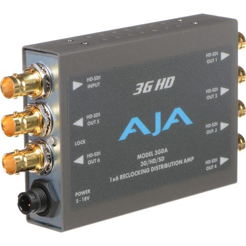 AJA 3GDA 3G-SDI 1x6 Reclocking Distribution Amplifier