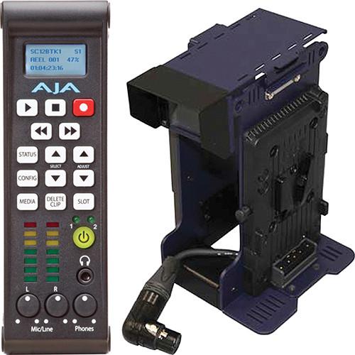 AJA Ki Pro Mini Compact Field Recorder with V-Mount Adapter Kit