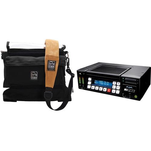 AJA Ki Pro Recorder / 250GB HDD / Compatible Porta Brace Case Kit