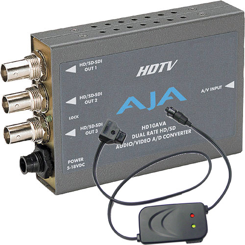 AJA SD/HD A/D Mini Converter with P-Tap Adapter Cable