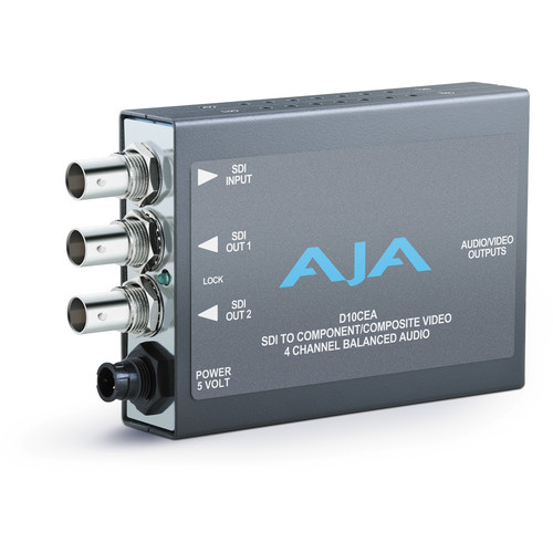 AJA D10CEA SD-SDI to Analog Audio/Video Mini-Converter