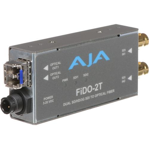AJA FiDO Dual Channel 3G-SDI to LC Fiber Mini Converter