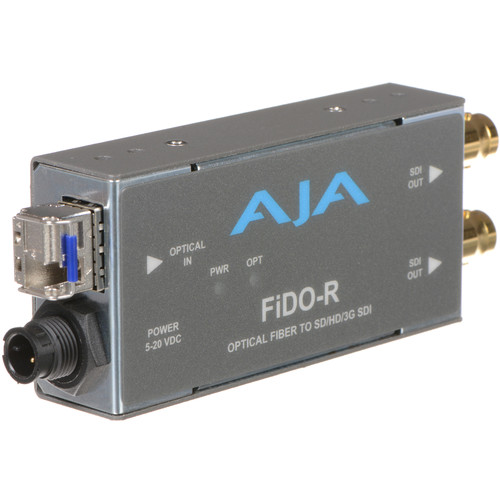 AJA FiDO Single Channel LC Fiber to 3G-SDI Mini Converter