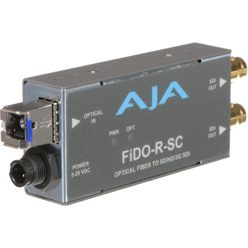 AJA FiDO Single Channel SC Fiber to 3G-SDI Mini Converter