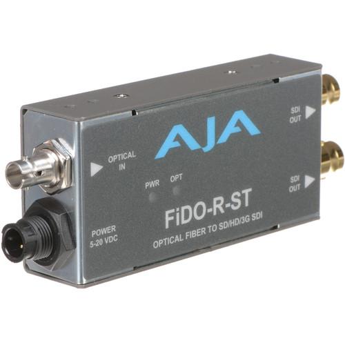 AJA FiDO Single-Channel ST Fiber to 3G-SDI Mini Converter