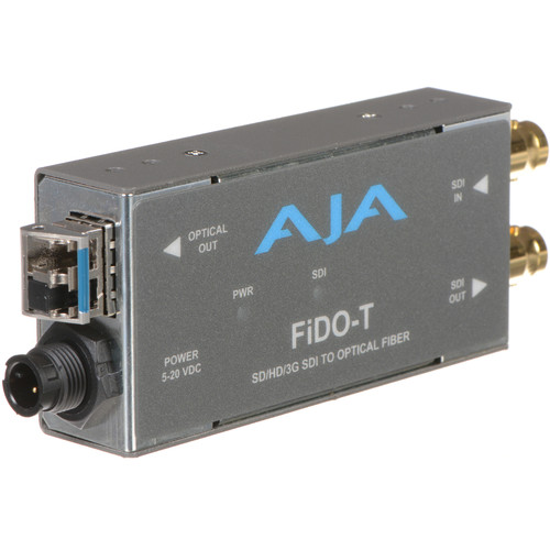 AJA FiDO Single-Channel 3G-SDI to LC Fiber Mini Converter