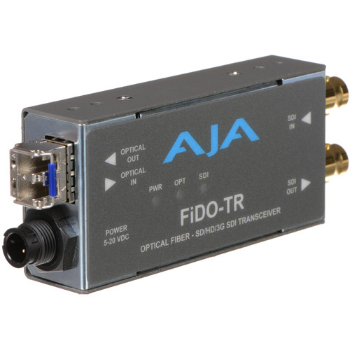 AJA FiDO Single-Channel 3G-SDI / LC Fiber Transceiver