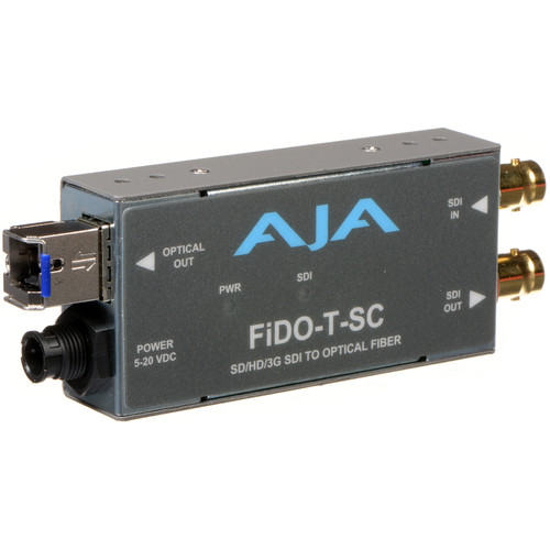 AJA FiDO Single Channel 3G-SDI to SC Fiber Mini Converter