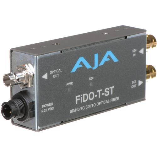 AJA FiDO Single Channel 3G-SDI to ST Fiber Mini Converter