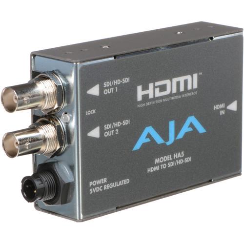 AJA HDMI to SD/HD-SDI Video and Audio Converter