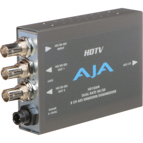 AJA HD/SD 8 Channel AES Embedder/Disembedder