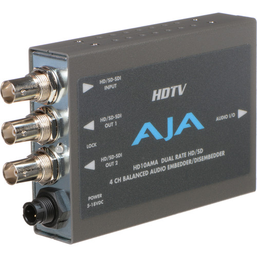 AJA HD/SD-SDI 4-Channel Analog Audio Embedder / Disembedder