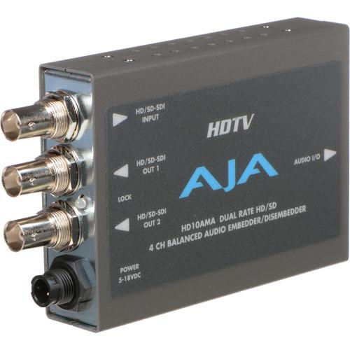 AJA HD/SD-SDI 4-Channel Analog Audio Embedder / Disembedder