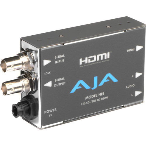 AJA HD/SD-SDI to HDMI Video and Audio Converter with DWP