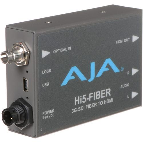 AJA HI5FIBER HD/SD-SDI Over Fiber to HDMI Video and Audio Mini-Converter