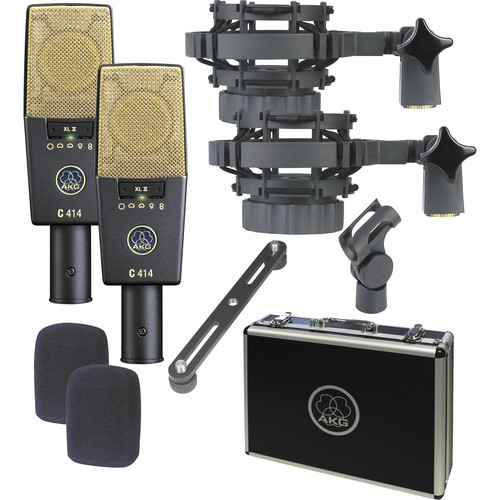 AKG C414 XLII ST Multi-Pattern Large-Diaphragm Condenser Microphone (Matched Pair Stereo Set)