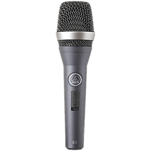 AKG D5 S Handheld Supercardioid Dynamic Vocal Microphone with On/Off Switch