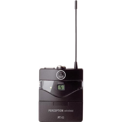 AKG Perception PT 45 Wireless Pocket Transmitter - Frequency U2 / 614 - 634 MHz