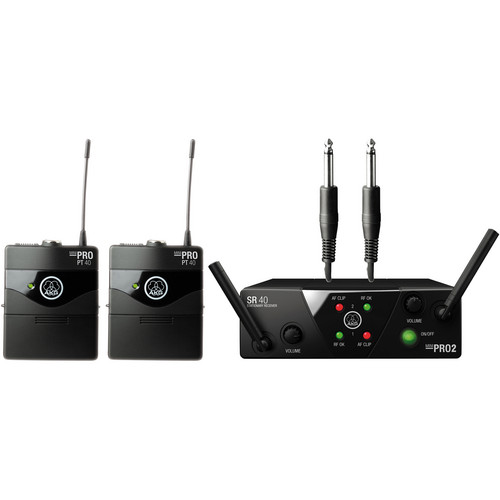 AKG WMS 40 Mini2 Dual Wireless Instrumental System