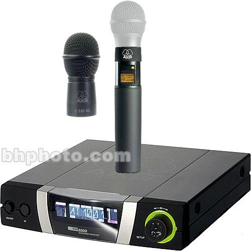 akg wms4000 wireless handheld microphone system wms4000 535 3. Black Bedroom Furniture Sets. Home Design Ideas