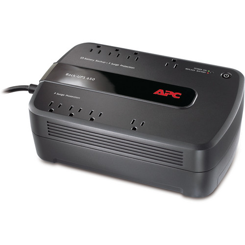 APC Back-UPS 650 8 Outlet Surge Protector and Battery Backup (120V)