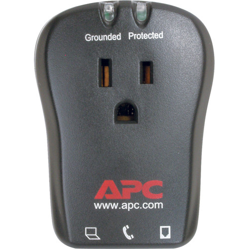 APC Essential SurgeArrest 1-Outlet Surge Protector with RJ-11 Telephone Protection