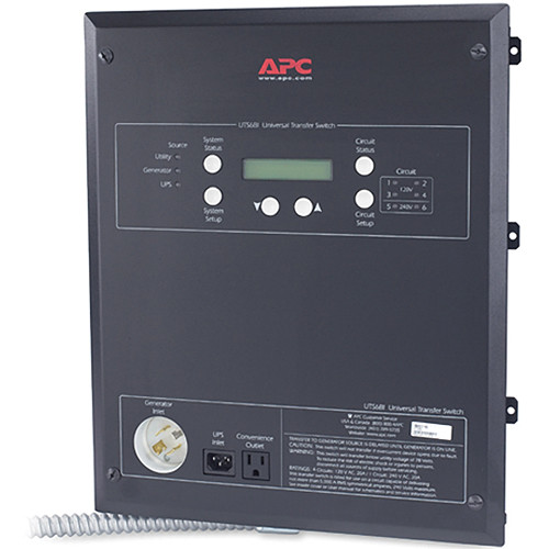 APC Universal Transfer Switch 6-Circuit 120V