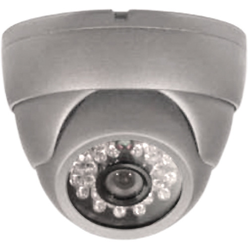 ARM Electronics C600MDIR 600 TVL Outdoor IR Dome Camera with OSD (3.6mm, Gray)