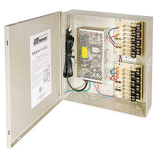 ARM Electronics 8 Camera 12VDC UL Listed Power Supply
