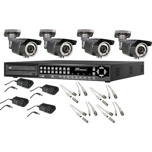 ARM Electronics HR Real-Time 4-Channel H.264 DVR (500 GB) with (4) Outdoor Cameras Kit