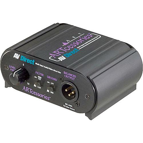ART AV Direct - Multi-Input Audio/Video Direct Box