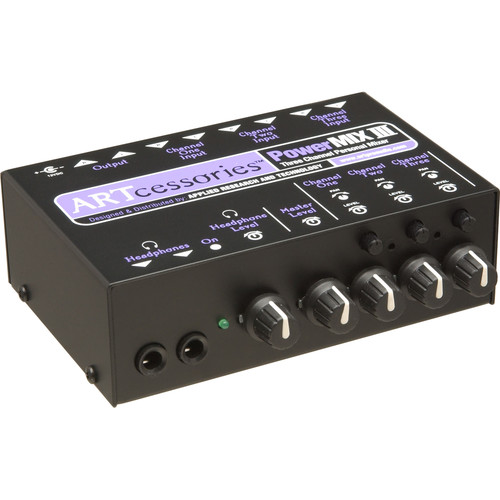 ART POWERMIX III  3-Channel Miniature Stereo Mixer