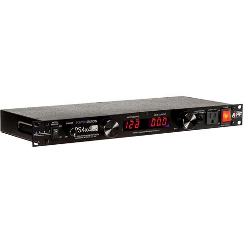 ART PS 4x4 Rackmount 8-Outlet Power Conditioner w/Volt & Ammeter & Lights