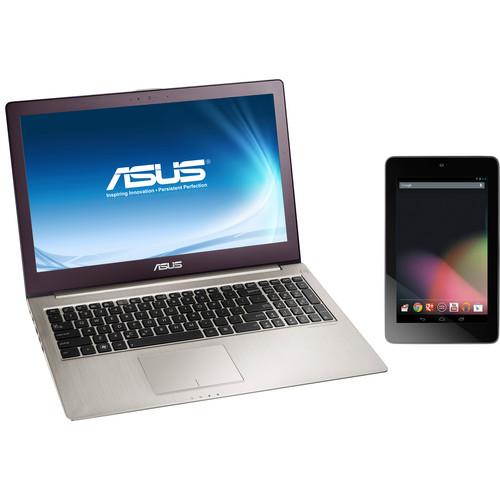 "ASUS Zenbook UX51VZ-DH71 15.6"" Notebook & 8GB Google Nexus 7"" Tablet Bundle"