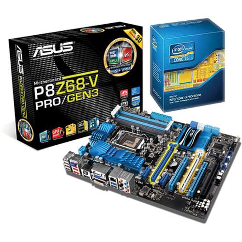 ASUS P8Z68-V Pro / Gen.3 Motherboard with Intel Core i5-2500K Processor CPU Kit