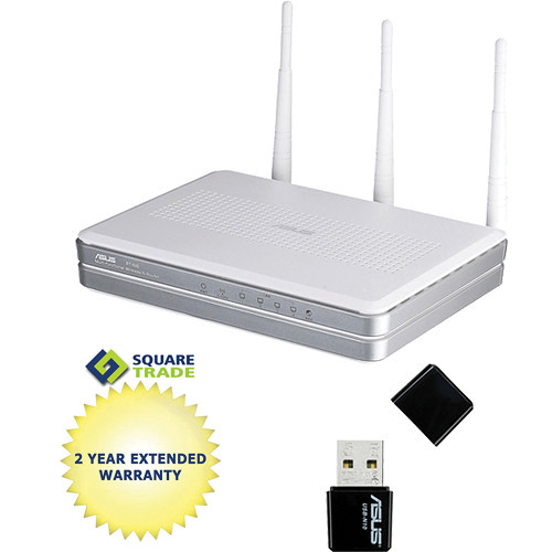 ASUS RT-N16 Multi-Functional Gigabit Wireless-N Router with Storage, Printer, & Media Server Starter Kit