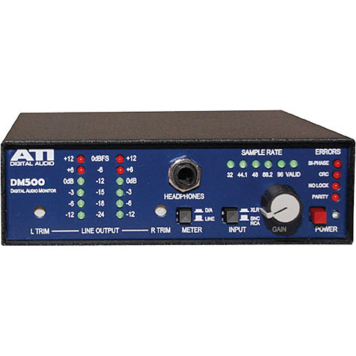 ATI Audio Inc DM500-1 Digital Audio Monitor and D/A with 120V Power Supply