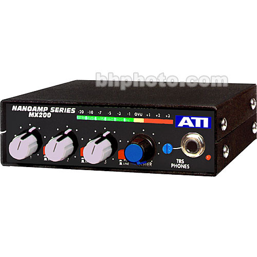 ATI Audio Inc MXS-200C Stereo Audio Mixer with Limiter